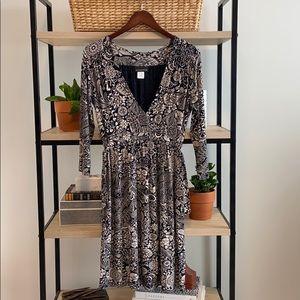Athleta Printed Knit Adjustable  Waist Dress, XS